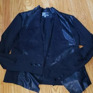 KUT FROM THE KLOTH FAUX LEATHER/SUEDE JACKET